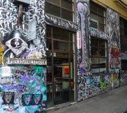Rua dos grafittis em melbourne, Austrália Foto de Stock Royalty Free