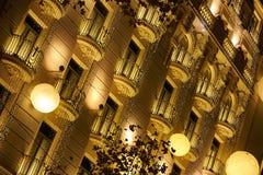 Rua dourada em Barcelona Foto de Stock Royalty Free