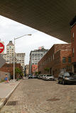 Rua DUMBO Brooklyn New York da água Imagens de Stock