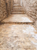 Rua e escadas na cidade velha Imagem de Stock Royalty Free