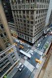 Rua e interseção da cidade Fotografia de Stock Royalty Free