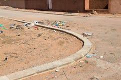 Rua e lixo Imagens de Stock