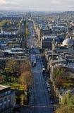 Rua Edimburgo Escócia dos príncipes Foto de Stock