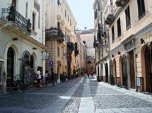 Rua em Algero Imagens de Stock