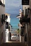 Rua em Altea, Spain foto de stock royalty free