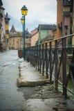 Rua em Annecy, France Foto de Stock