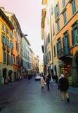 Rua em Bergamo foto de stock