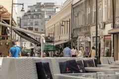 Rua em Bucareste, Romênia imagens de stock