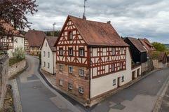 Rua em Cadolsburg, Alemanha Foto de Stock Royalty Free