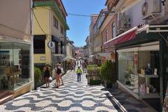 Rua em Cascais Portugal fotos de stock royalty free