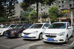 Rua em Chengdu, Sichuan, China imagem de stock royalty free