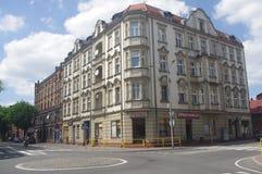 Rua em Chorzow velho, Polônia Fotos de Stock Royalty Free