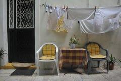 Rua em Corfu imagem de stock royalty free
