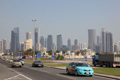 Rua em Doha, Qatar Fotos de Stock
