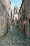 Rua em Erice, Sicília - Italy Foto de Stock Royalty Free