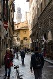 Rua em Florença Fotografia de Stock
