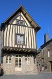Rua em Fougeres, França Fotografia de Stock Royalty Free