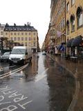 Rua em Gamla Stan, Éstocolmo Imagens de Stock Royalty Free