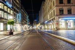 Rua em Genebra, Switzerland Imagens de Stock Royalty Free