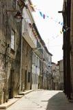 Rua em Guarda, Portugal Fotos de Stock