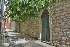 Rua em Herceg Novi Foto de Stock