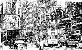 Rua em Hong Kong