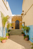 Rua em Kasbah do Udayas em Rabat, Marrocos Fotos de Stock Royalty Free