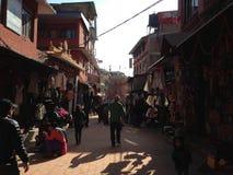 Rua em Kathmandu Fotos de Stock