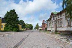 Rua em Lappeenranta, Finlandia Fotografia de Stock