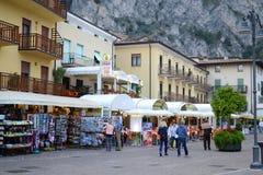 Rua em Limone, Itália Imagem de Stock