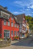Rua em Munstereifel mau, Alemanha Imagens de Stock Royalty Free