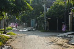 Rua em Myanmar fotografia de stock