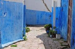 Rua em oudaias do DES do casbah em Rabat, Marrocos Imagem de Stock Royalty Free