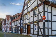 Rua em Paderborn, Alemanha fotografia de stock royalty free