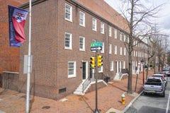 8a rua em Philadelphfia - distrito histórico - PHILADELPHFIA - PENSILVÂNIA - 6 de abril de 2017 Fotografia de Stock Royalty Free