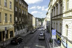A rua em Praga imagens de stock royalty free