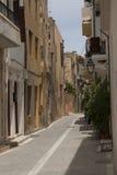 A rua em Rethymno Foto de Stock Royalty Free