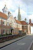 Rua em Salisbúria, Inglaterra fotografia de stock royalty free