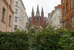 Rua em Schwerin, Alemanha Imagens de Stock Royalty Free