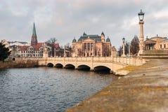Rua em Schwerin, Alemanha Foto de Stock Royalty Free