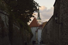 Rua em Tallin Imagens de Stock