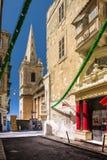 Rua em Valletta, Malta Fotografia de Stock Royalty Free