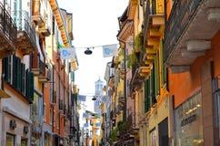 Rua em Verona Fotos de Stock Royalty Free