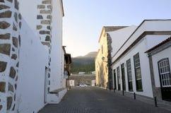 Rua em Vilaflor, Tenerife, Ilhas Canárias foto de stock royalty free