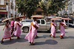 Rua em Yangon Fotografia de Stock