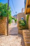 Rua ensolarada grega Imagens de Stock