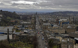 Rua Escócia dos príncipes do centro de cidade de Edimburgo Fotos de Stock
