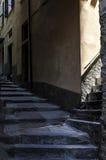 Rua & escadas estreitas Vernazza Itália Fotografia de Stock