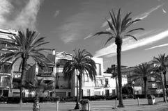 Rua espanhola da palma da cidade Fotos de Stock Royalty Free
