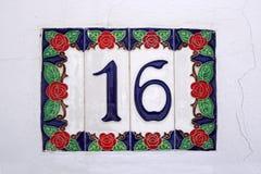 Rua espanhola número 16 Fotos de Stock Royalty Free